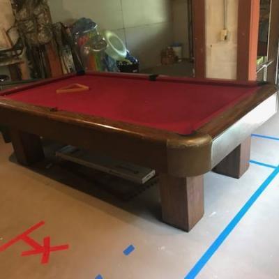 8 Foot High Quality Slate Brunswick Pool Table