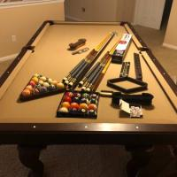 Pool Table Olhausen Americana 2 Dark Color 3 Piece Slate Tons of Extra