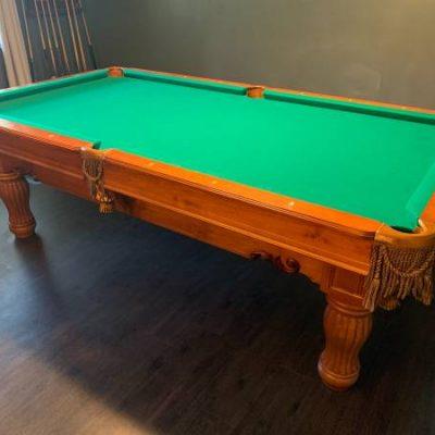 8' Brunswick Dominion Slate Pool Table