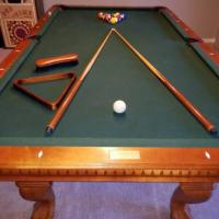 7 Foot Slate Pool Table With Accessories
