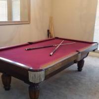 Pool Table Burgundy Felt