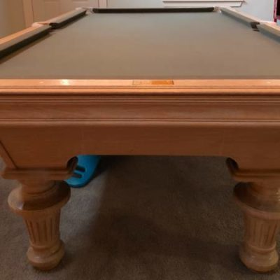 Olhausen 8' Pool Table, Dufferin Cues, Balls, Chalk etc.