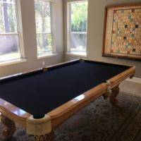 Custom Oak Pool Table